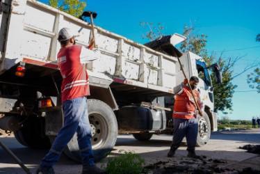 Las Heras, intensifican trabajos de higiene urbana 3