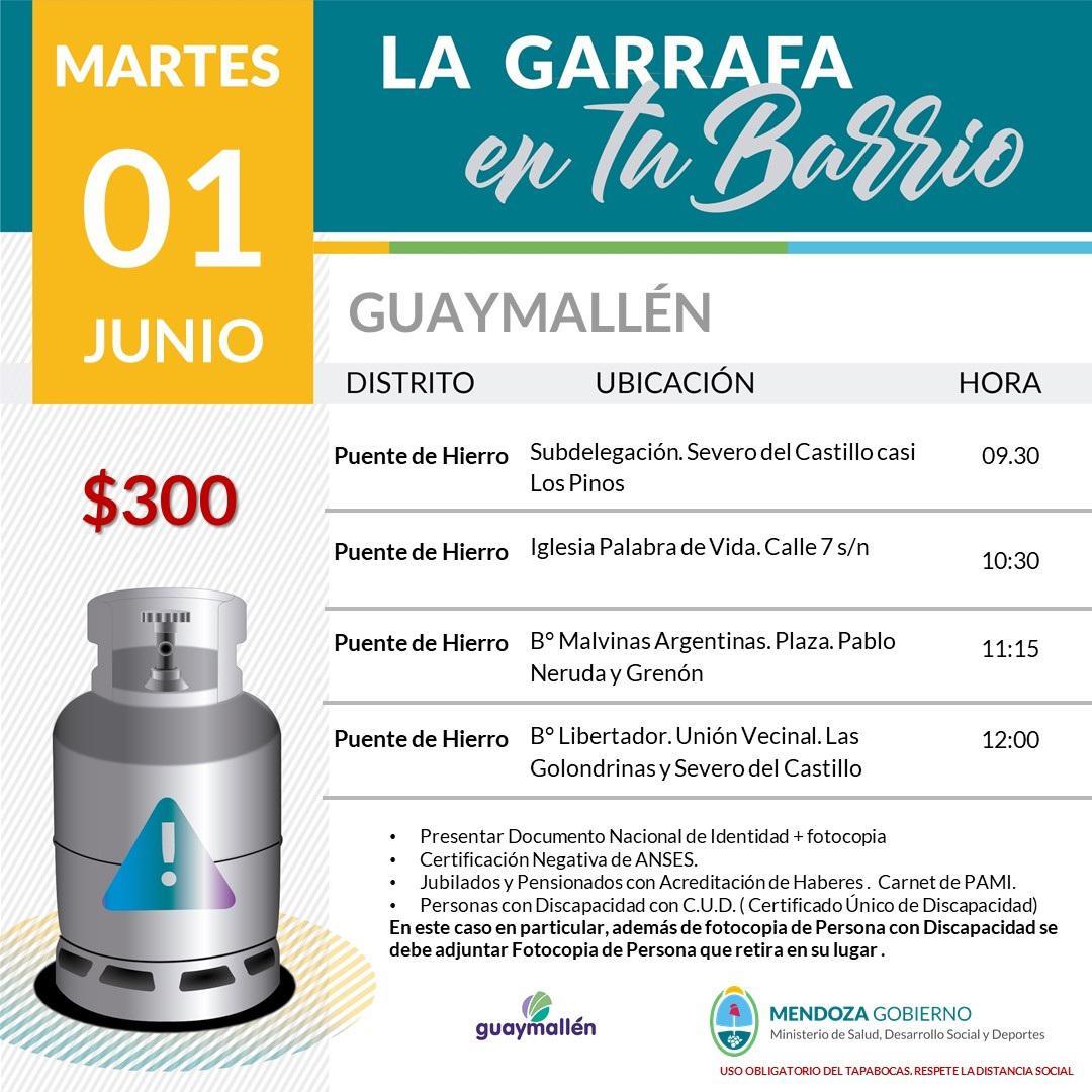 Garrafas martes 1 de junio