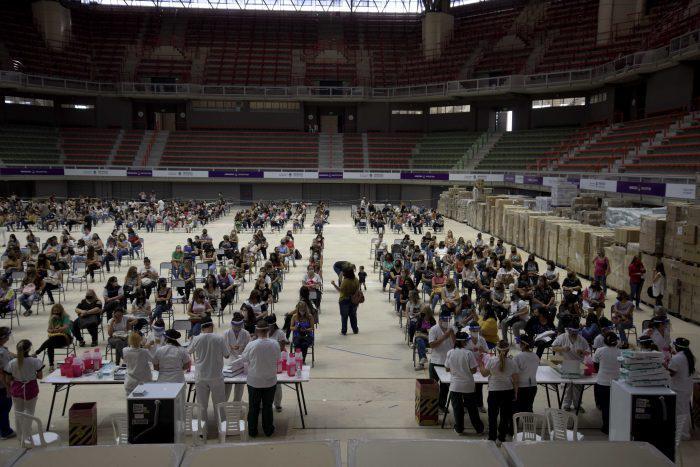 vacunacion Covid-19 Arena Maipú
