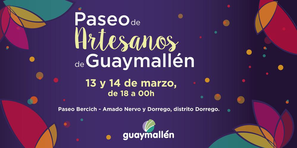 Paseo de artesanos de Guaymallén (placa)