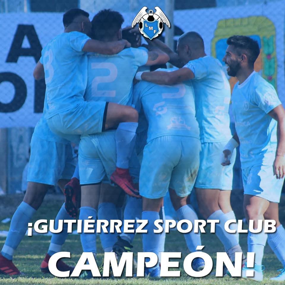 Gutierrez Sport Club campeón Liga Mendocina