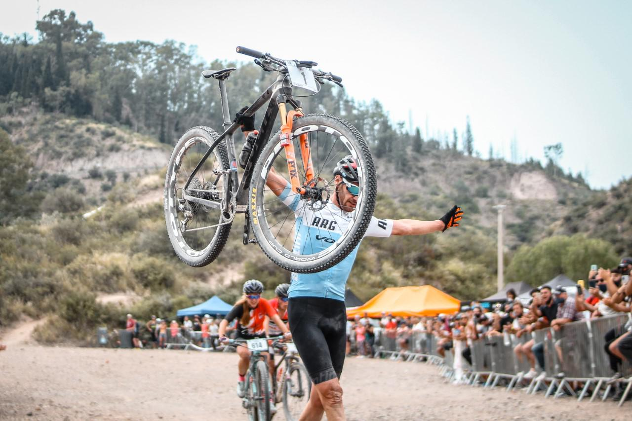 Catriel Soto en el Abierto de Mountain bike