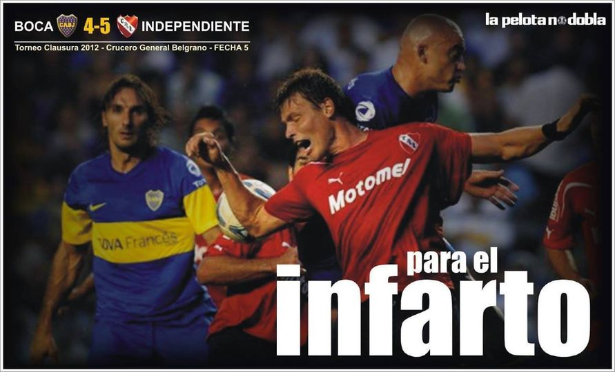 Boca 4- Independiente 5 en la Bombonera