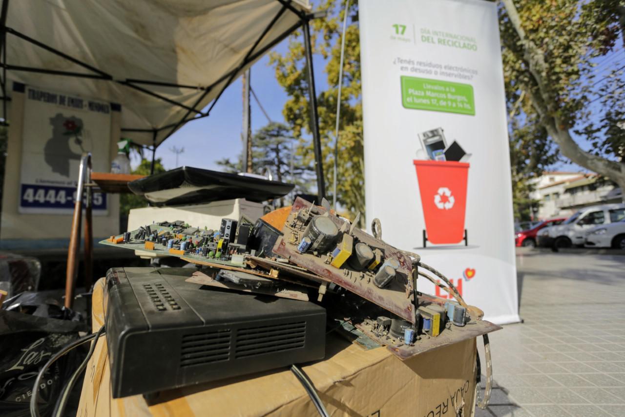 Las Heras, campaña de reciclaje