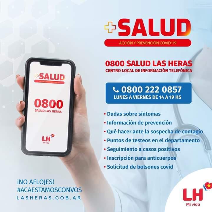 Placa 0800 Salud Las Heras
