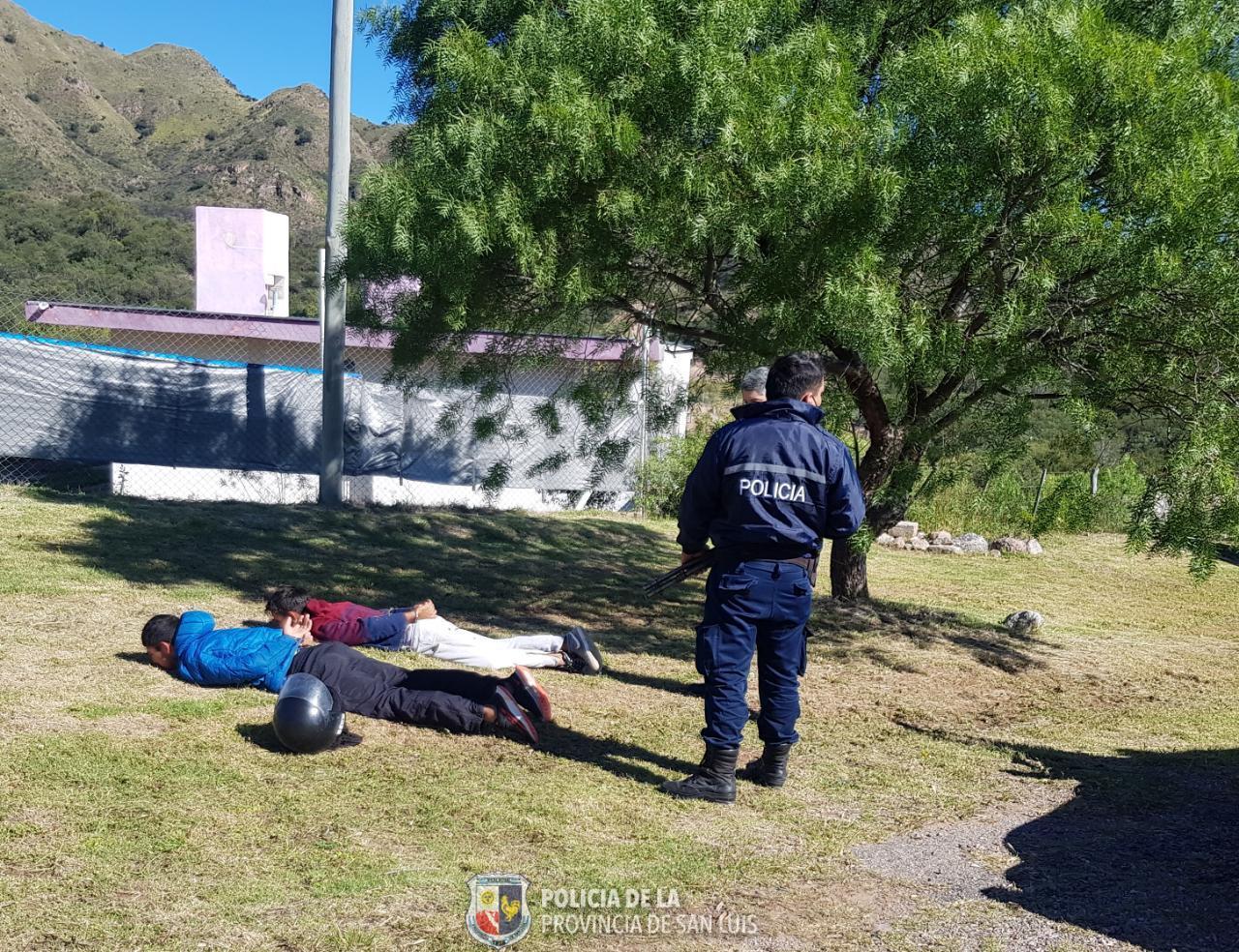 Detención a dos motochorros en San Luis