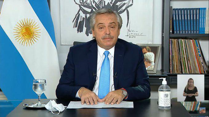 Presidente de Argentina Alberto Fernández
