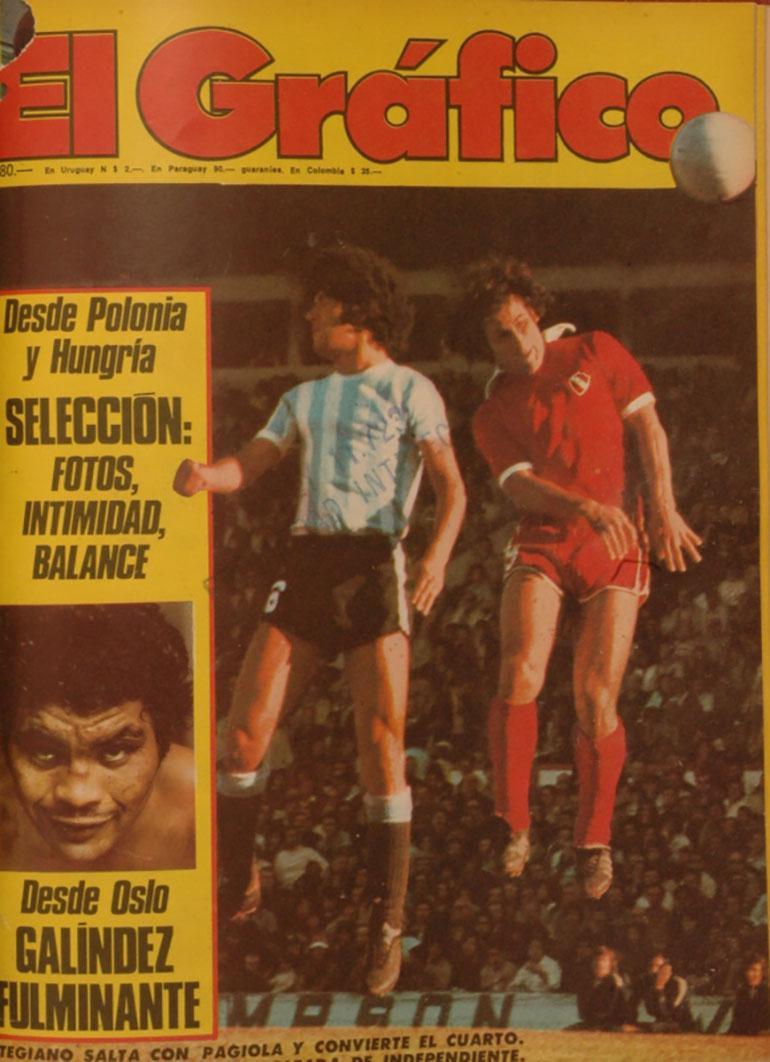 Tapa de El Grafico, Argentina ante Polonia 24 de marzo del 76