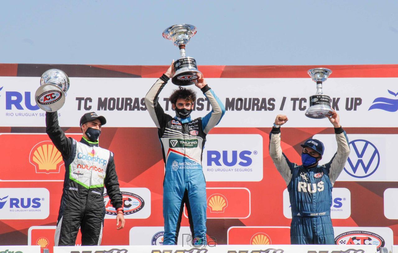 Lucas Vicino en el podio